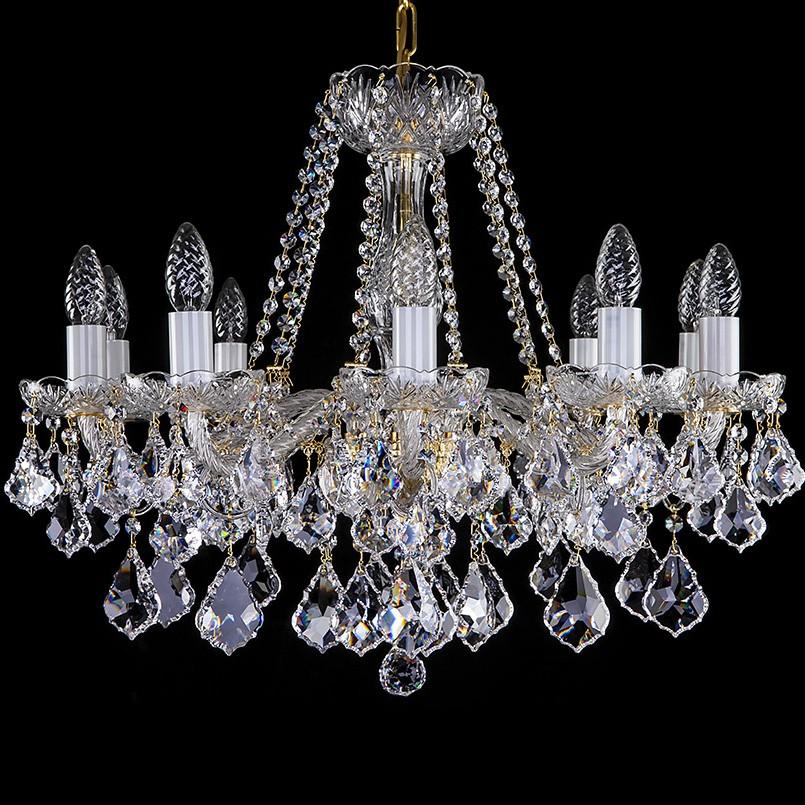 Candelabru 10 brate Cristal Exclusiv AEROPE X., LUSTRE CRISTAL, Corpuri de iluminat, lustre, aplice, veioze, lampadare, plafoniere. Mobilier si decoratiuni, oglinzi, scaune, fotolii. Oferte speciale iluminat interior si exterior. Livram in toata tara.  a