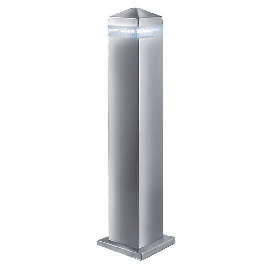 Stalp LED modern de exterior IP44 India H-45cm 7202-450 SRT, Stalpi de iluminat exterior mici si medii , Corpuri de iluminat, lustre, aplice, veioze, lampadare, plafoniere. Mobilier si decoratiuni, oglinzi, scaune, fotolii. Oferte speciale iluminat interior si exterior. Livram in toata tara.  a