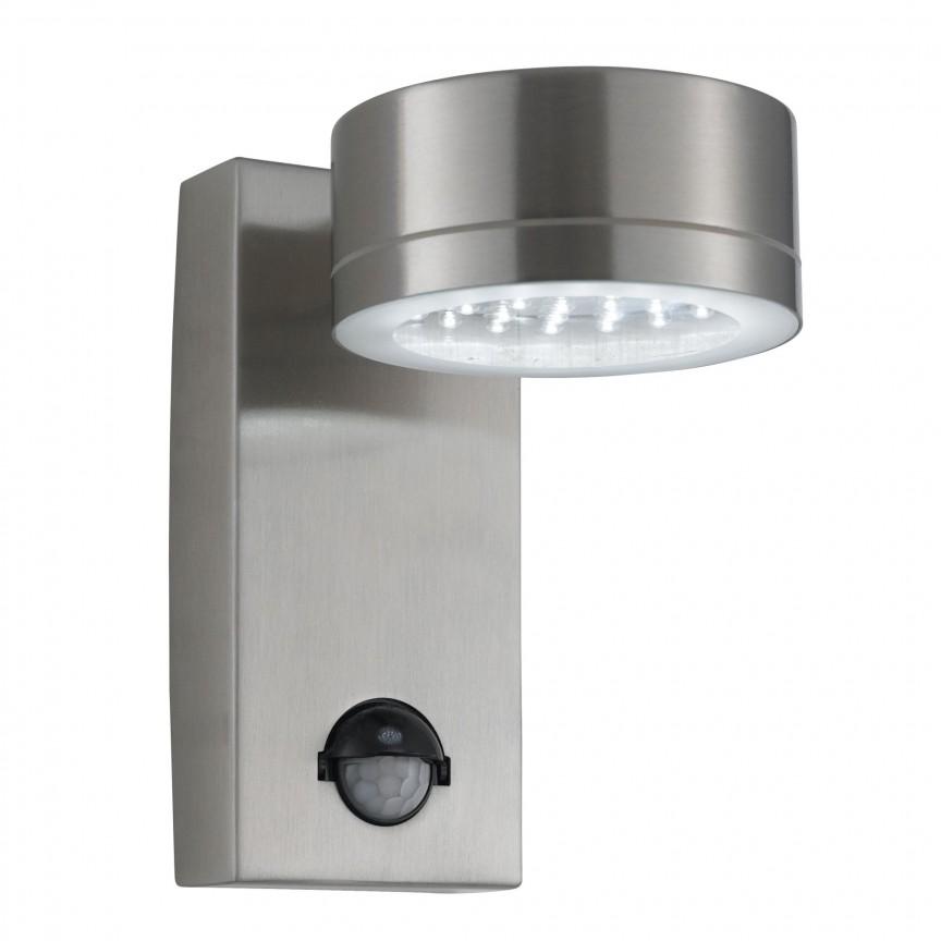 Aplica LED de exterior cu senzor de miscare Down 9550SS SRT, Iluminat cu senzor de miscare,  a