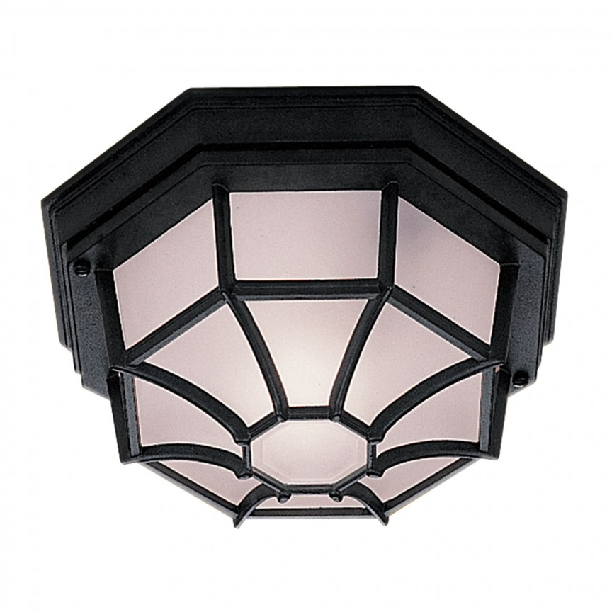 Plafoniera exterior stil traditional IP54 Outdoor 2942BK SRT, Plafoniere de exterior, Corpuri de iluminat, lustre, aplice, veioze, lampadare, plafoniere. Mobilier si decoratiuni, oglinzi, scaune, fotolii. Oferte speciale iluminat interior si exterior. Livram in toata tara.  a
