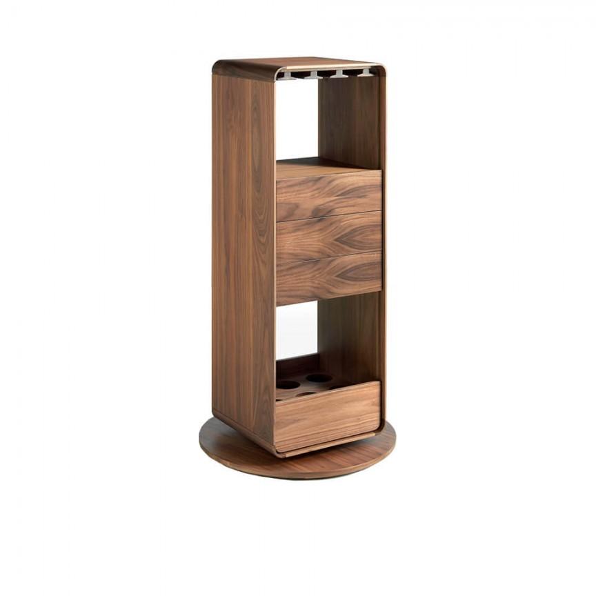 Dulapior bar rotativ design LUX Walnut AC 3115-BRG3615E, Mobilier divers, Corpuri de iluminat, lustre, aplice, veioze, lampadare, plafoniere. Mobilier si decoratiuni, oglinzi, scaune, fotolii. Oferte speciale iluminat interior si exterior. Livram in toata tara.  a