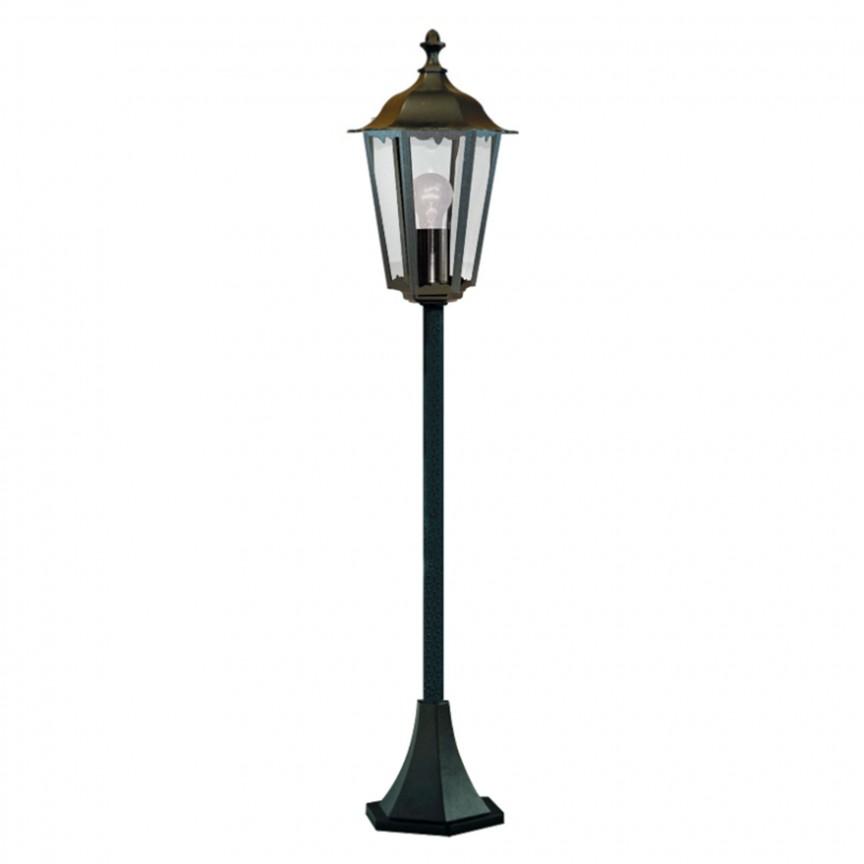 Stalp de iluminat exterior stil traditional IP44 Alex 82504BK SRT, Stalpi de iluminat exterior mici si medii , Corpuri de iluminat, lustre, aplice, veioze, lampadare, plafoniere. Mobilier si decoratiuni, oglinzi, scaune, fotolii. Oferte speciale iluminat interior si exterior. Livram in toata tara.  a