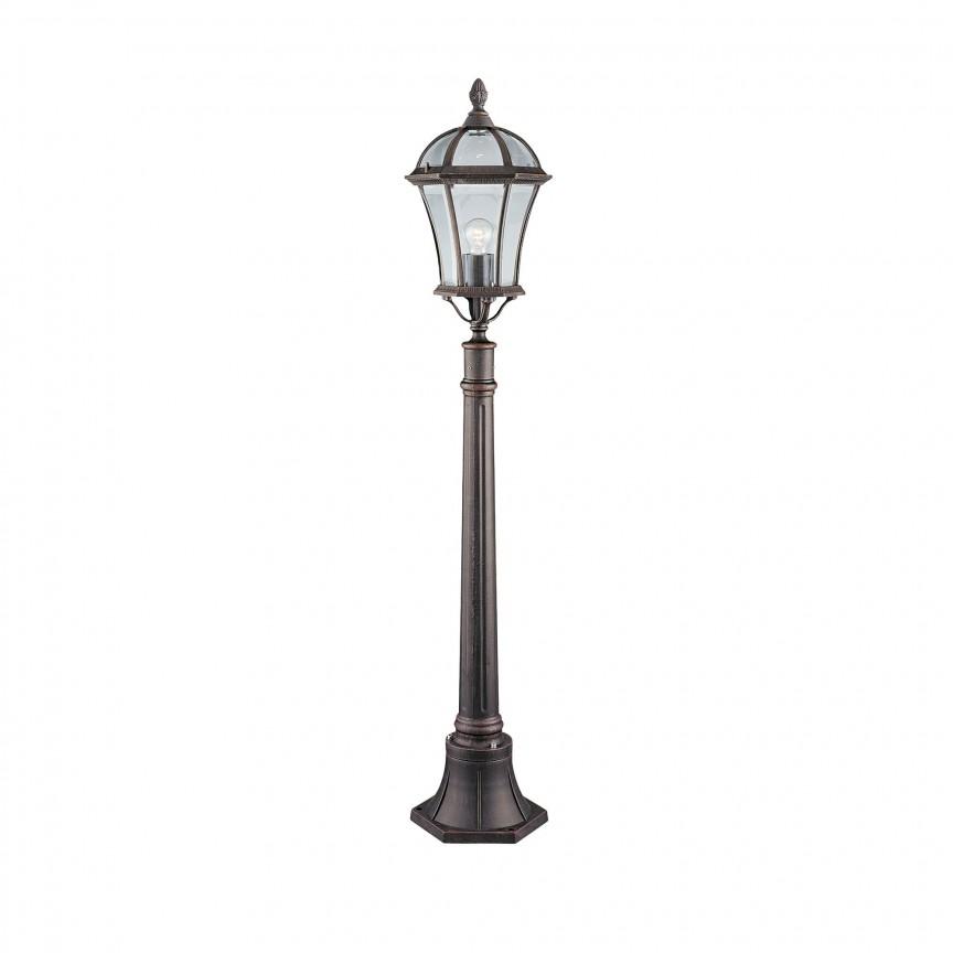 Stalp de iluminat exterior stil traditional Capri 1568 SRT, Stalpi de iluminat exterior mici si medii , Corpuri de iluminat, lustre, aplice, veioze, lampadare, plafoniere. Mobilier si decoratiuni, oglinzi, scaune, fotolii. Oferte speciale iluminat interior si exterior. Livram in toata tara.  a