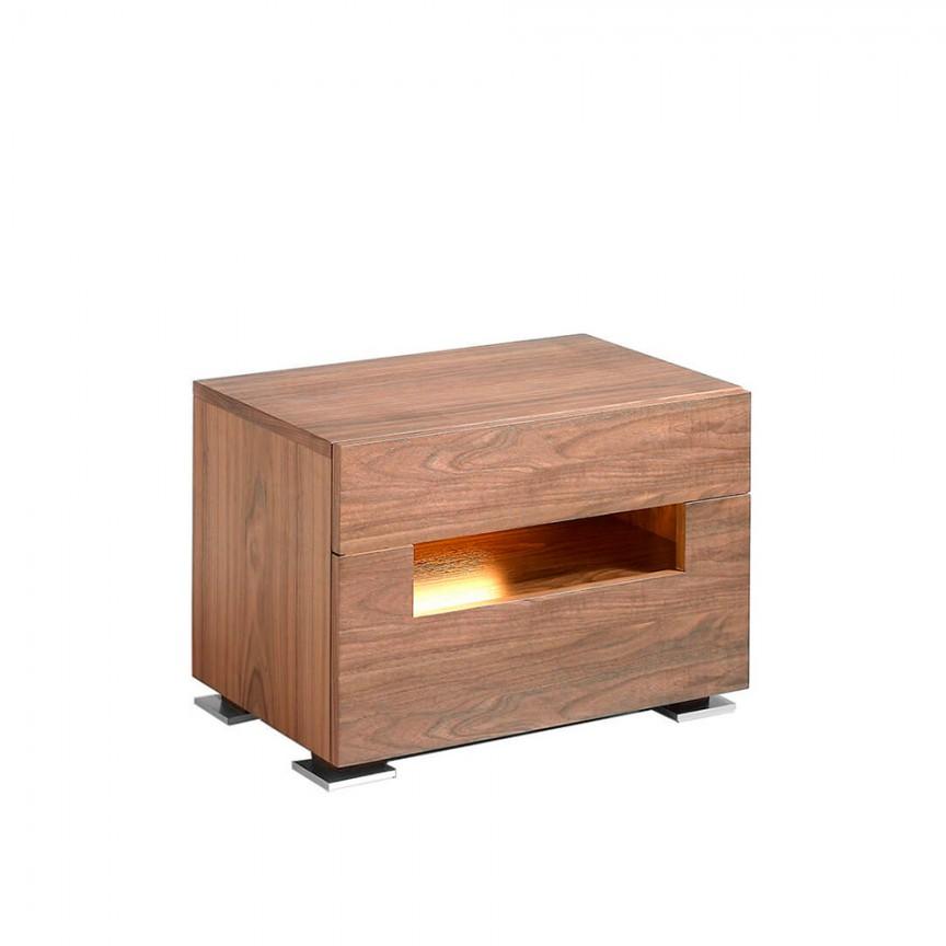 Masuta/ Noptiera eleganta design modern cu iluminat LED AC 7065-MB1709NS, Paturi - Noptiere dormitor,  a