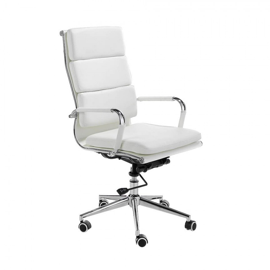 Scaun de birou elegant White AC 4078-MLM611148, Scaune de birou, Corpuri de iluminat, lustre, aplice, veioze, lampadare, plafoniere. Mobilier si decoratiuni, oglinzi, scaune, fotolii. Oferte speciale iluminat interior si exterior. Livram in toata tara.  a
