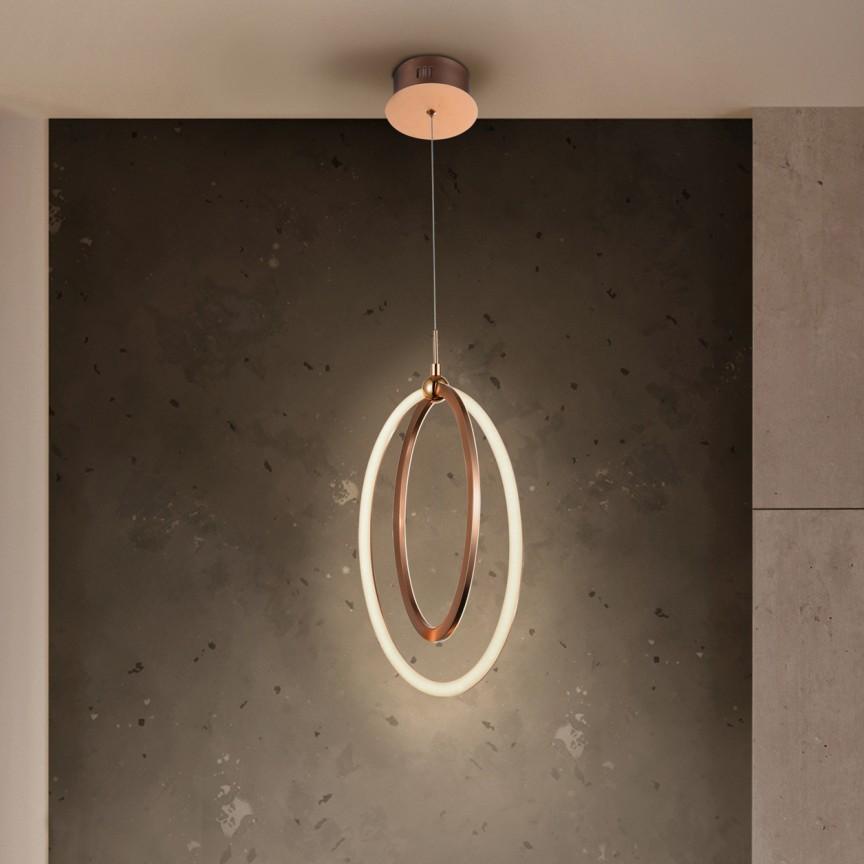 Pendul LED design ultra-modern Ocellis auriu roze SV-814263, Promotii si Reduceri⭐ Oferte ✅Corpuri de iluminat ✅Lustre ✅Mobila ✅Decoratiuni de interior si exterior.⭕Pret redus online➜Lichidari de stoc❗ Magazin ➽ www.evalight.ro. a
