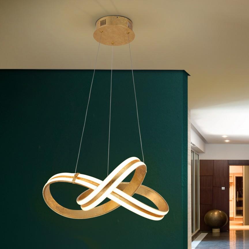 Lustra LED design ultra-modern Lazas Ø50cm SV-486705, Promotii si Reduceri⭐ Oferte ✅Corpuri de iluminat ✅Lustre ✅Mobila ✅Decoratiuni de interior si exterior.⭕Pret redus online➜Lichidari de stoc❗ Magazin ➽ www.evalight.ro. a