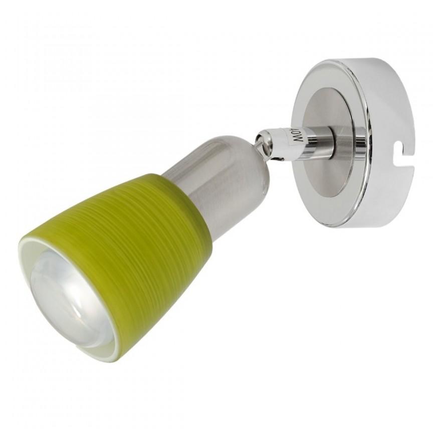 Aplica cu spot directionabil Mona 504021101 MW, Spoturi - iluminat - cu 1 spot, Corpuri de iluminat, lustre, aplice, veioze, lampadare, plafoniere. Mobilier si decoratiuni, oglinzi, scaune, fotolii. Oferte speciale iluminat interior si exterior. Livram in toata tara.  a