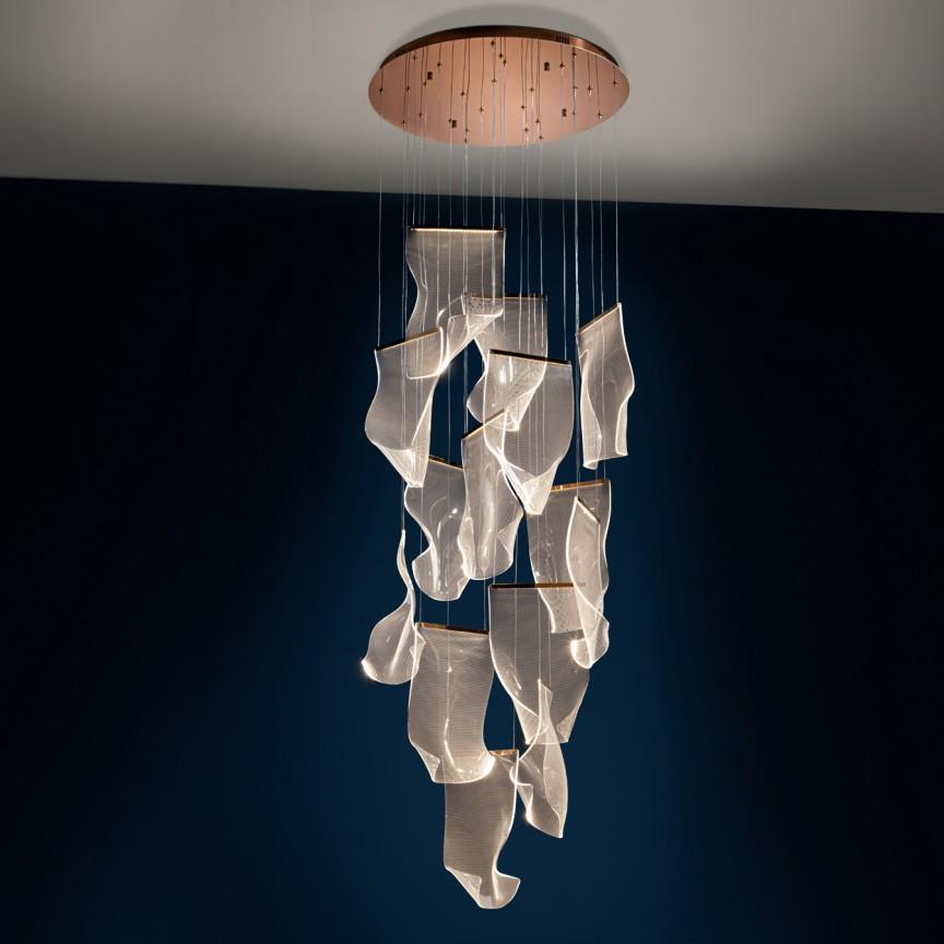 Lustra LED ultra-moderna design exclusivist Ø70cm Velos SV-608428, Lustre casa scarii,  a