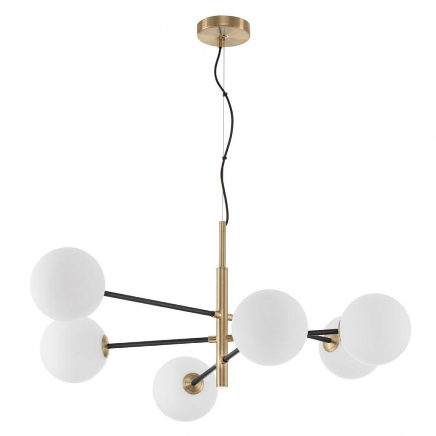 Lustra moderna cu 6 surse de lumina Vitra, Corpuri de iluminat, lustre, aplice, veioze, lampadare, plafoniere. Mobilier si decoratiuni, oglinzi, scaune, fotolii. Oferte speciale iluminat interior si exterior. Livram in toata tara.