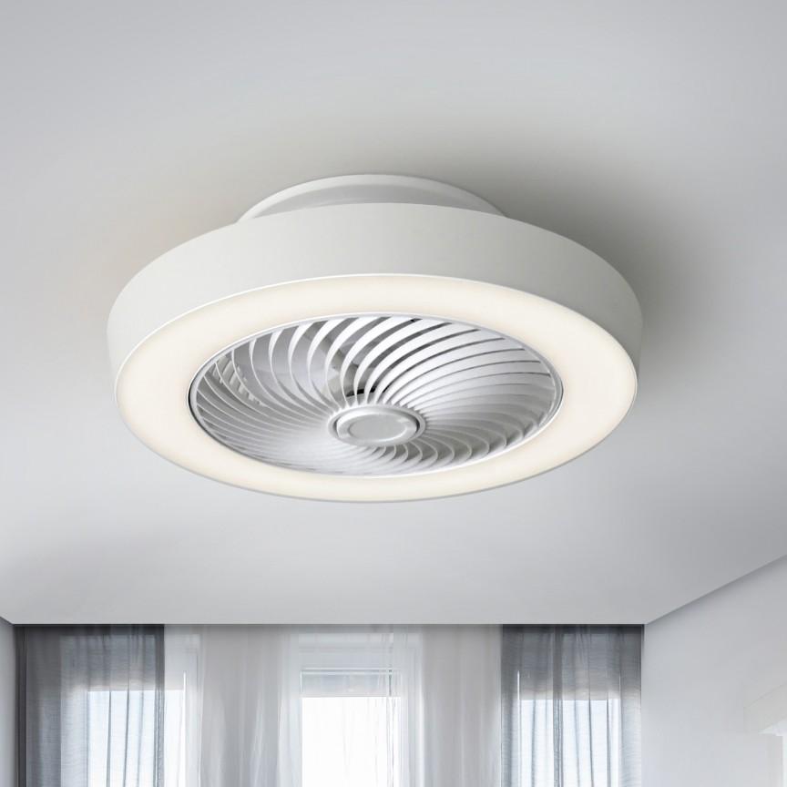 Lustra cu Venilator de tavan, iluminat LED si telecomanda Ventiluz SV-137263, Lustra cu Ventilator, Corpuri de iluminat, lustre, aplice, veioze, lampadare, plafoniere. Mobilier si decoratiuni, oglinzi, scaune, fotolii. Oferte speciale iluminat interior si exterior. Livram in toata tara.  a