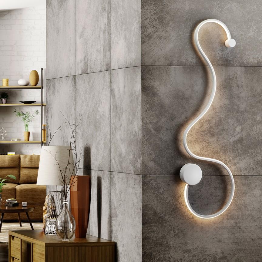 Aplica de perete LED design modern decorativ Grafos alb SV-227025, Aplice de perete LED, moderne⭐ modele potrivite pentru dormitor,living,baie,hol,bucatarie.✅Design premium actual Top 2020!❤️Promotii lampi❗ ➽ www.evalight.ro. Alege oferte la corpuri de iluminat cu LED pt tavan interior, (becuri cu leduri si module LED integrate cu lumina calda, naturala sau rece), ieftine si de lux, calitate deosebita la cel mai bun pret.  a
