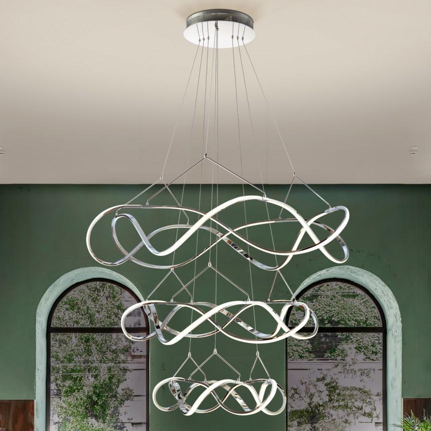 Lustra LED XXL pentru casa scarii design lux Ø110cm Molly SV-763431, Lustre casa scarii,  a