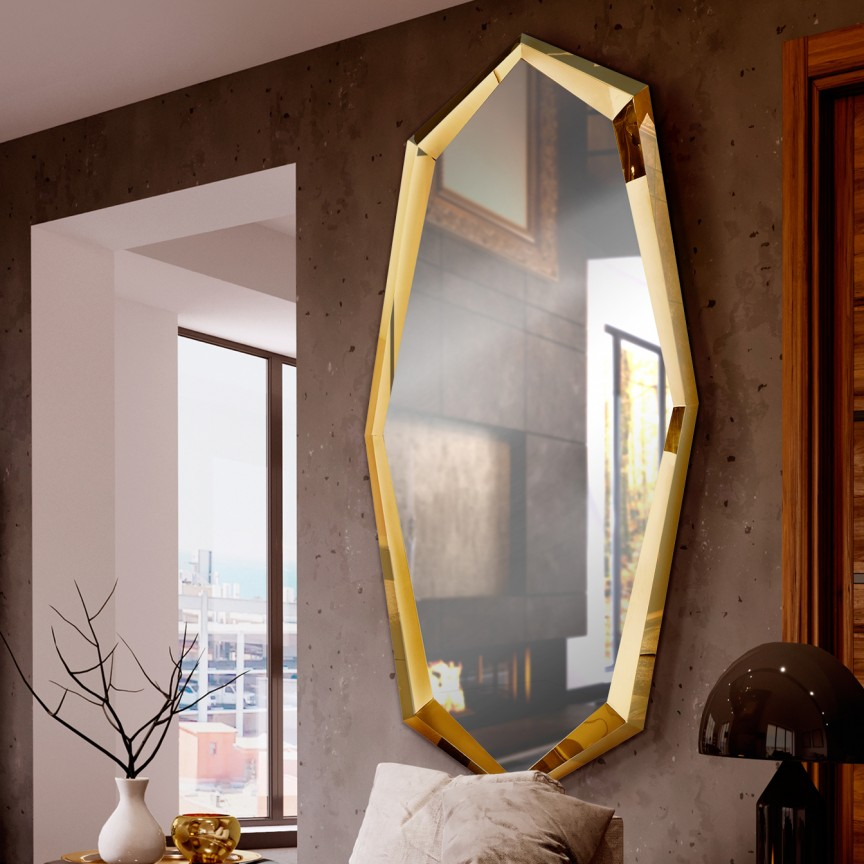Oglinda decorativa design lux 90x180cm London aurie SV-339421, Oglinzi decorative,  a