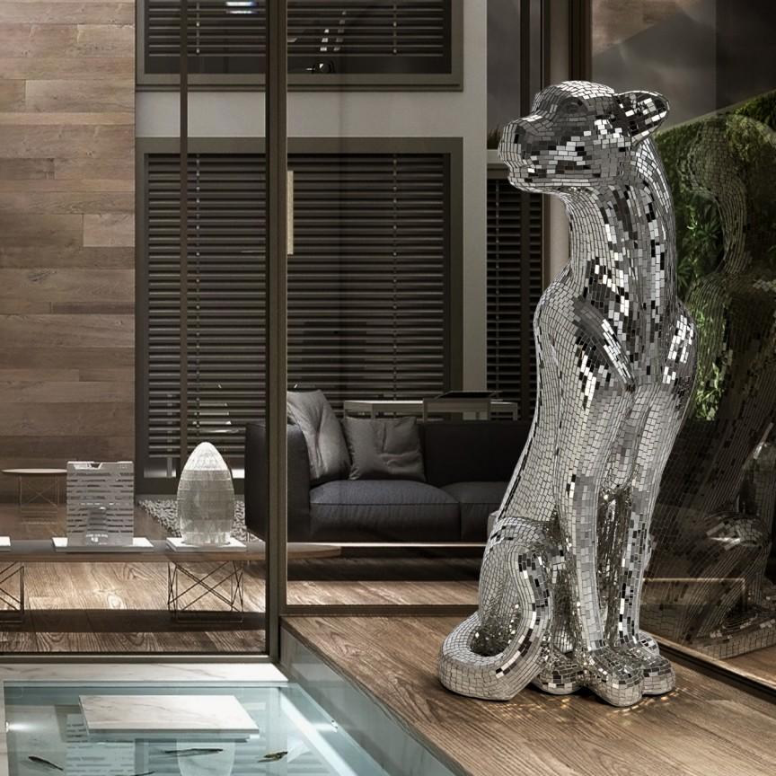 Figurina decorativa design lux Leopard Baguira RIGHT SV-523306, Statuete, Figurine decorative, Corpuri de iluminat, lustre, aplice, veioze, lampadare, plafoniere. Mobilier si decoratiuni, oglinzi, scaune, fotolii. Oferte speciale iluminat interior si exterior. Livram in toata tara.  a