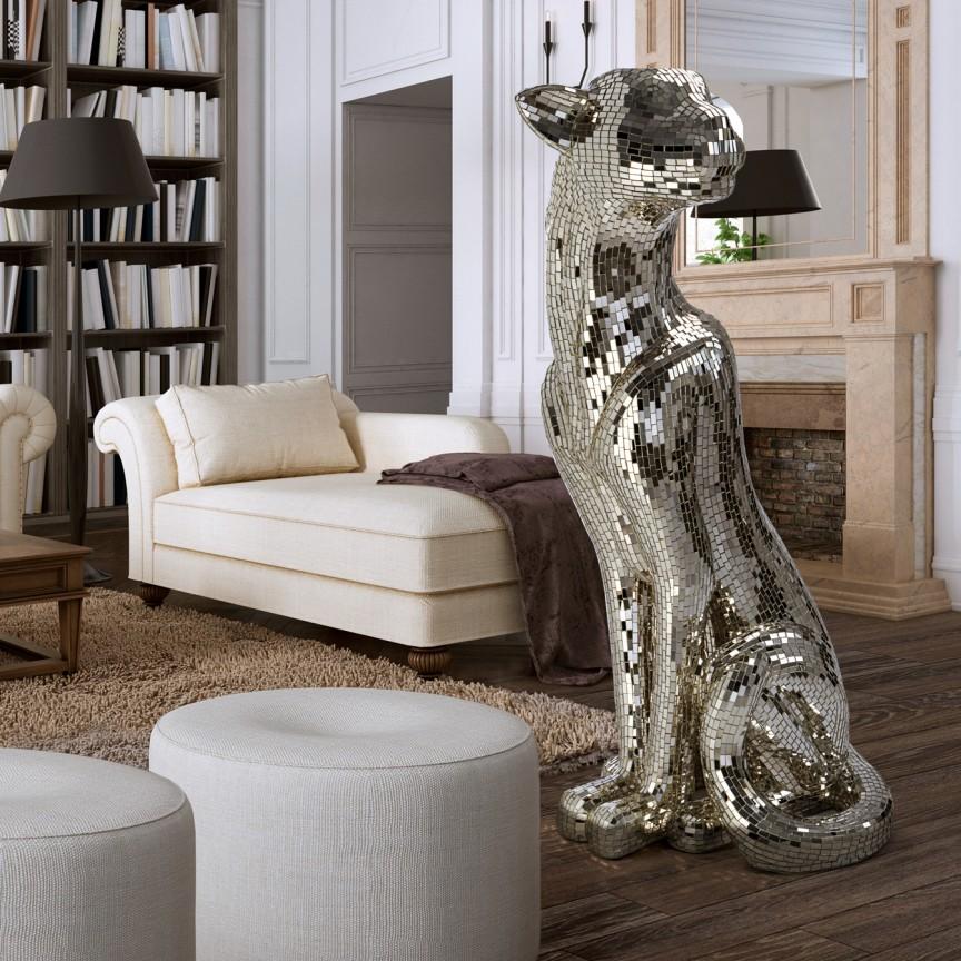 Figurina decorativa design lux Leopard Baguira LEFT SV-523499, Statuete, Figurine decorative, Corpuri de iluminat, lustre, aplice, veioze, lampadare, plafoniere. Mobilier si decoratiuni, oglinzi, scaune, fotolii. Oferte speciale iluminat interior si exterior. Livram in toata tara.  a