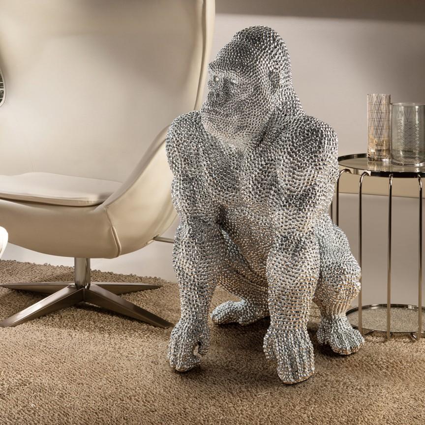 Figurina mare design decorativ Gorila SV-957120, Statuete, Figurine decorative, Corpuri de iluminat, lustre, aplice, veioze, lampadare, plafoniere. Mobilier si decoratiuni, oglinzi, scaune, fotolii. Oferte speciale iluminat interior si exterior. Livram in toata tara.  a
