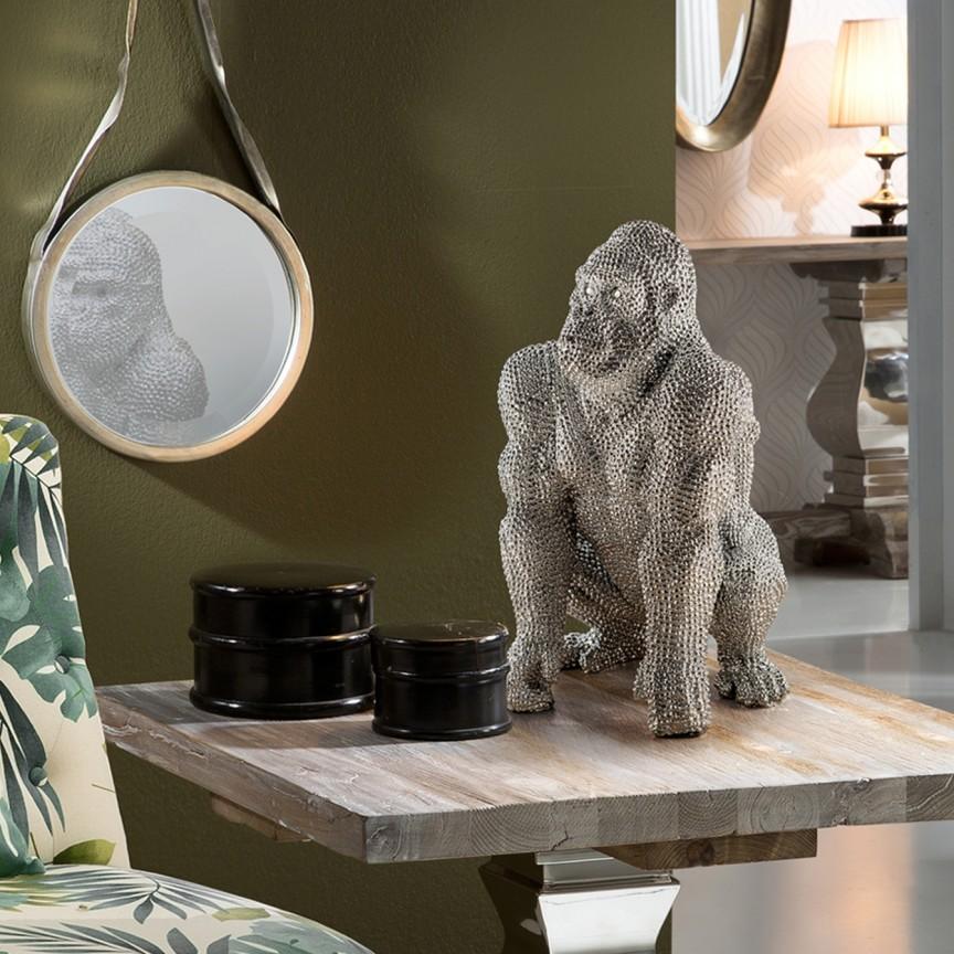 Figurina design decorativ Gorila small SV-957014, Statuete, Figurine decorative, Corpuri de iluminat, lustre, aplice, veioze, lampadare, plafoniere. Mobilier si decoratiuni, oglinzi, scaune, fotolii. Oferte speciale iluminat interior si exterior. Livram in toata tara.  a