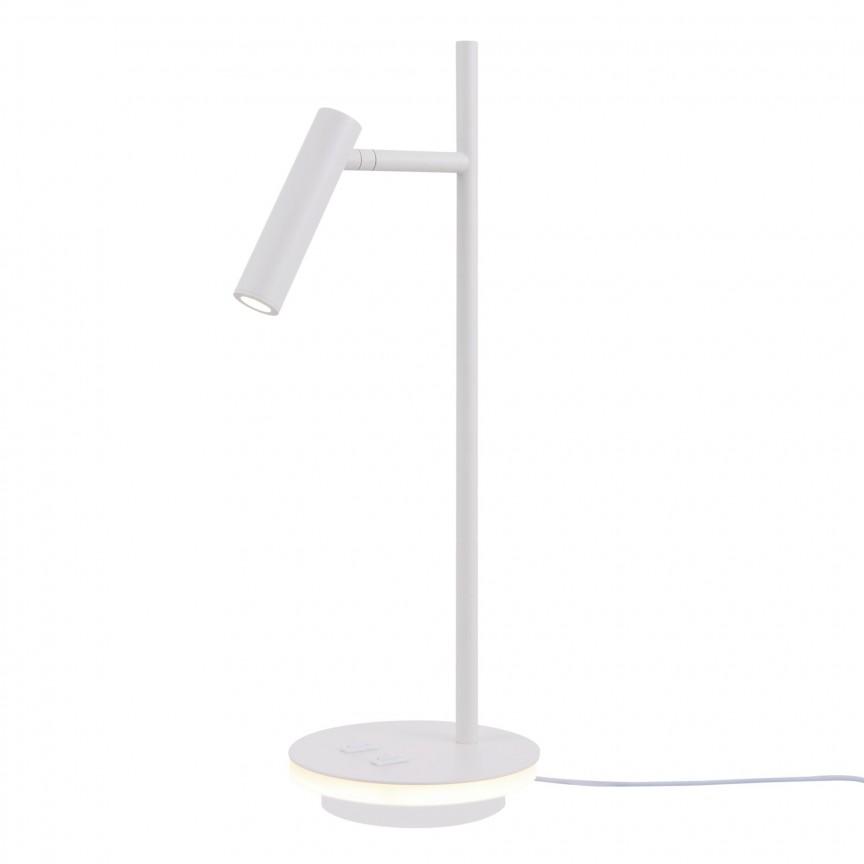 Veioza, Lampa de masa Estudo alb MY-Z010TL-L8W3K , Veioze / Lampi de birou moderne, LED⭐ modele potrivite pentru mobila birou, dormitor, camera copii, directorial❗ Design premium actual Top 2020!❤️Promotii❗ ➽ www.evalight.ro. Alege oferte la lampi de iluminat interior elegante, pt citit cu brat flexibil si lumina reglabila, retro sau vintage, stil industrial din metal, lemn, ieftine si de lux, calitate deosebita la cel mai bun pret. a