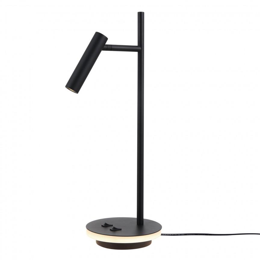 Veioza, Lampa de masa Estudo negru MY-Z010TL-L8B3K, Veioze / Lampi de birou moderne, LED⭐ modele potrivite pentru mobila birou, dormitor, camera copii, directorial❗ Design premium actual Top 2020!❤️Promotii❗ ➽ www.evalight.ro. Alege oferte la lampi de iluminat interior elegante, pt citit cu brat flexibil si lumina reglabila, retro sau vintage, stil industrial din metal, lemn, ieftine si de lux, calitate deosebita la cel mai bun pret. a