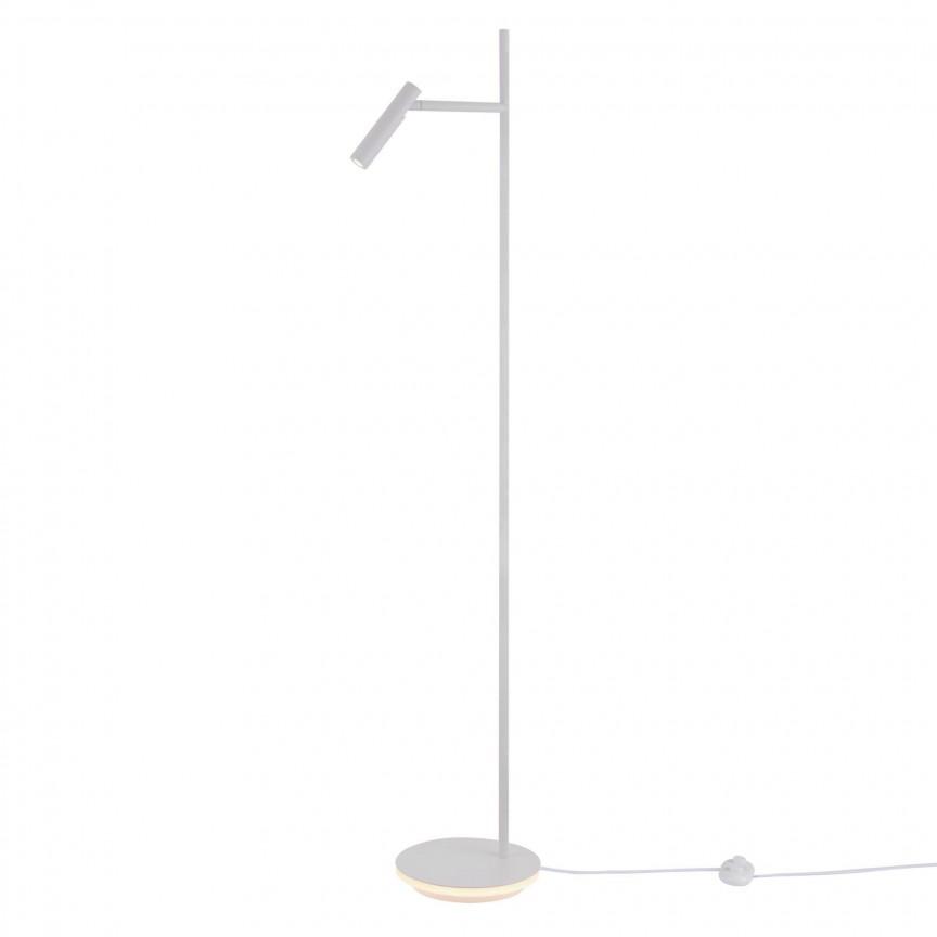 Lampadar, Lampa de podea Estudo alb MY-Z010FL-L8W3K, Lampadare LED de podea, moderne⭐ modele decorative potrivite pentru camera: living, dormitor, sufragerie❗ Design premium actual Top 2020!❤️Promotii lampi LED❗ ➽ www.evalight.ro. Alege oferte la lampi de iluminat interior cu LED, elegante, cu variator de lumina, picior inalt si reglabil, trepied lemn, telescopice, retro sau vintage, stil industrial din metal, becuri cu leduri, ieftine si de lux, calitate deosebita la cel mai bun pret. a