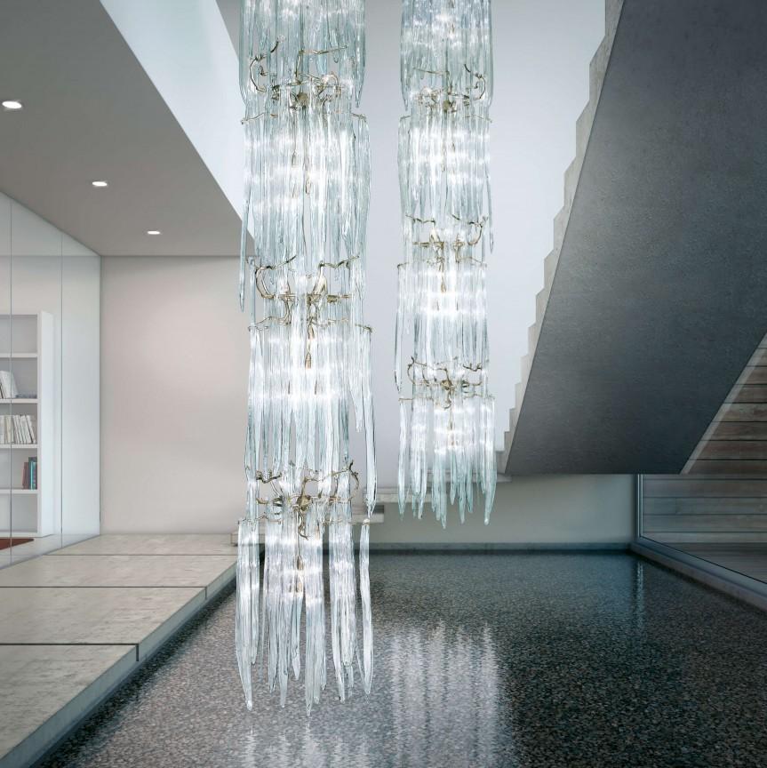 Lustra XXL casa scarii, design LUX realizata manual WATERFALL, Lustre casa scarii,  a