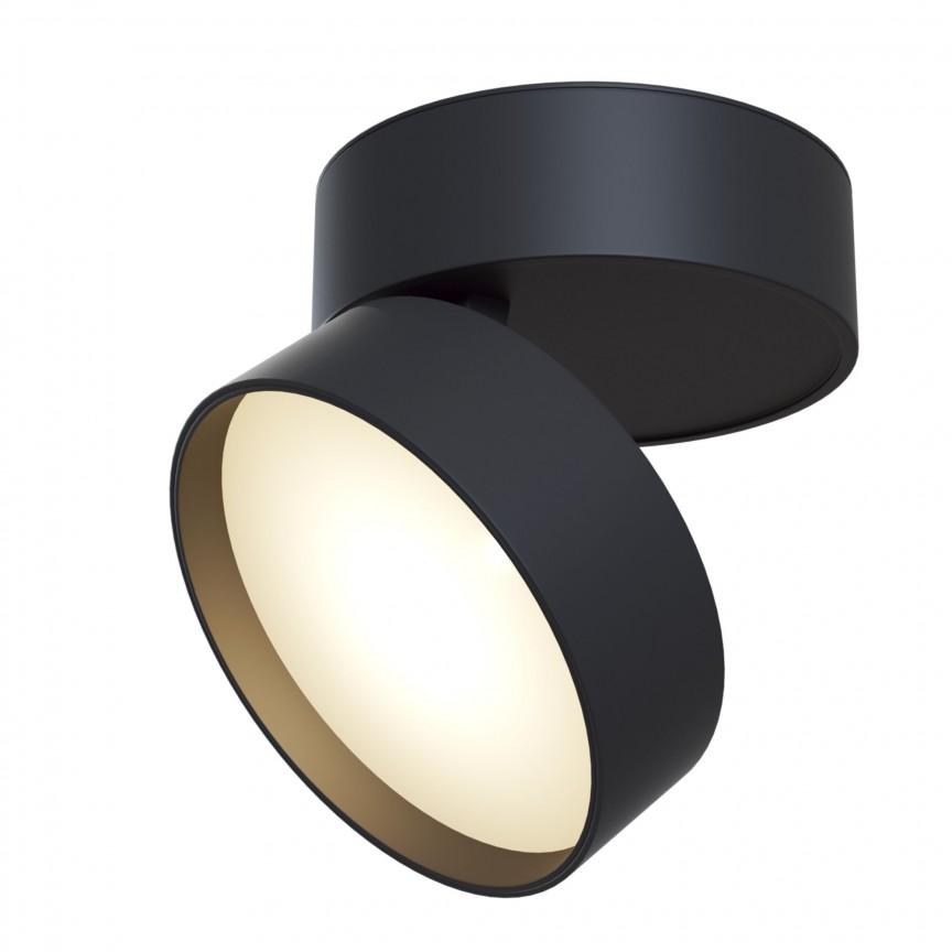 Spot LED directionabil Onda negru MY-C024CL-L18B, Cele mai vandute Corpuri de iluminat, lustre, aplice, veioze, lampadare, plafoniere. Mobilier si decoratiuni, oglinzi, scaune, fotolii. Oferte speciale iluminat interior si exterior. Livram in toata tara.  a