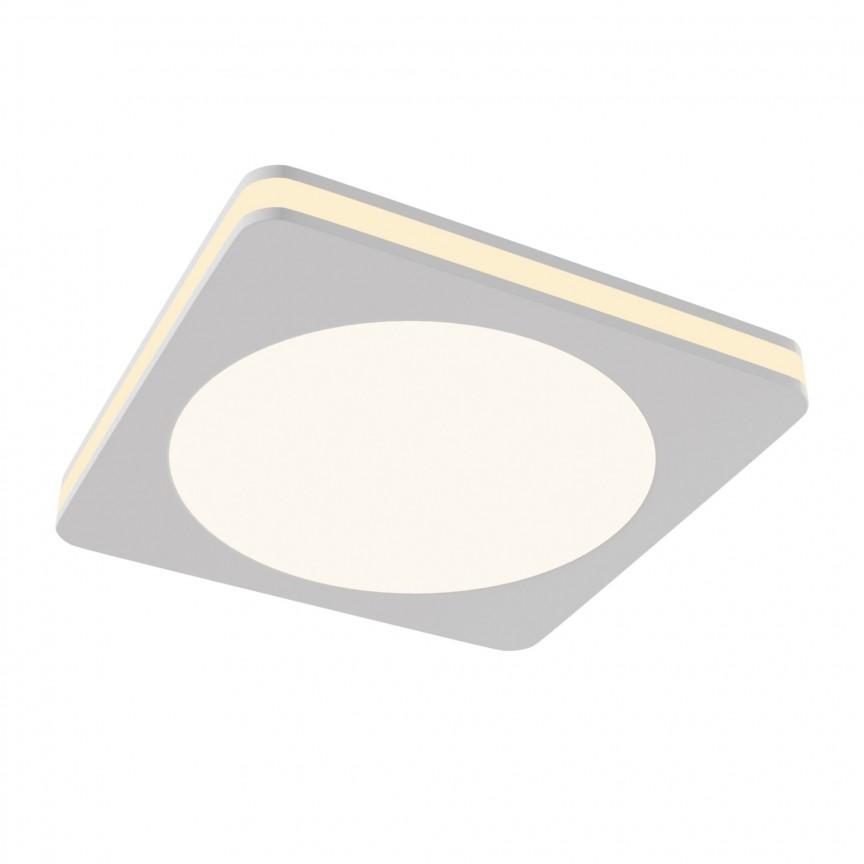 Spot LED incastrabil tavan fals Phanton alb, 9,5x9,5cm MY-DL303-L12W , Spoturi incastrate - tavan fals / perete, Corpuri de iluminat, lustre, aplice, veioze, lampadare, plafoniere. Mobilier si decoratiuni, oglinzi, scaune, fotolii. Oferte speciale iluminat interior si exterior. Livram in toata tara.  a