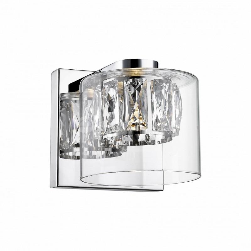Aplica LED design modern GEM argintiu W0389-01A-B5AC ZL, Aplice de perete LED, Corpuri de iluminat, lustre, aplice, veioze, lampadare, plafoniere. Mobilier si decoratiuni, oglinzi, scaune, fotolii. Oferte speciale iluminat interior si exterior. Livram in toata tara.  a
