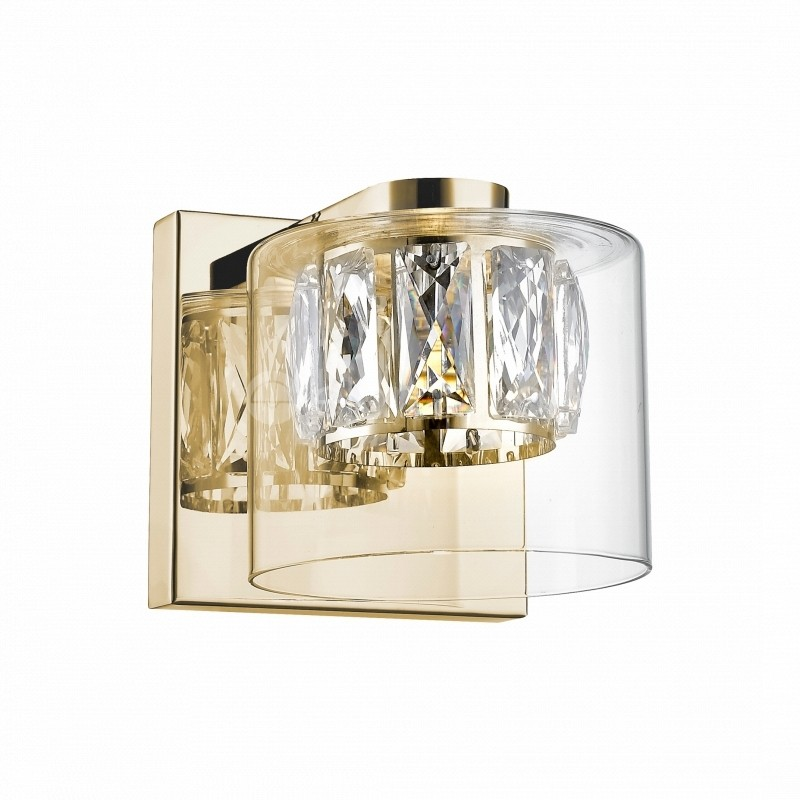 Aplica LED design modern GEM auriu W0389-01A-F7AC ZL, Corpuri de iluminat, lustre, aplice, veioze, lampadare, plafoniere. Mobilier si decoratiuni, oglinzi, scaune, fotolii. Oferte speciale iluminat interior si exterior. Livram in toata tara.