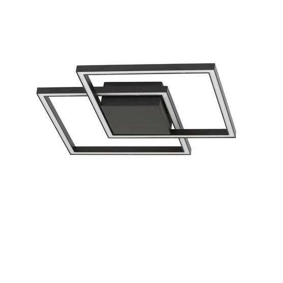 Lustra LED aplicata design modern geometric BILBAO 25W negru NVL-9500822, Plafoniere moderne, LED⭐ modele elegante de lux pentru living, dormitor, bucatarie sau hol.✅DeSiGn decorativ 2021!❤️Promotii lampi❗ ➽www.evalight.ro. Alege oferte NOI corpuri de iluminat interior de tip plafoniere si lustre aplicate, aplice tavan si de perete, ieftine de calitate deosebita la cel mai bun pret. a