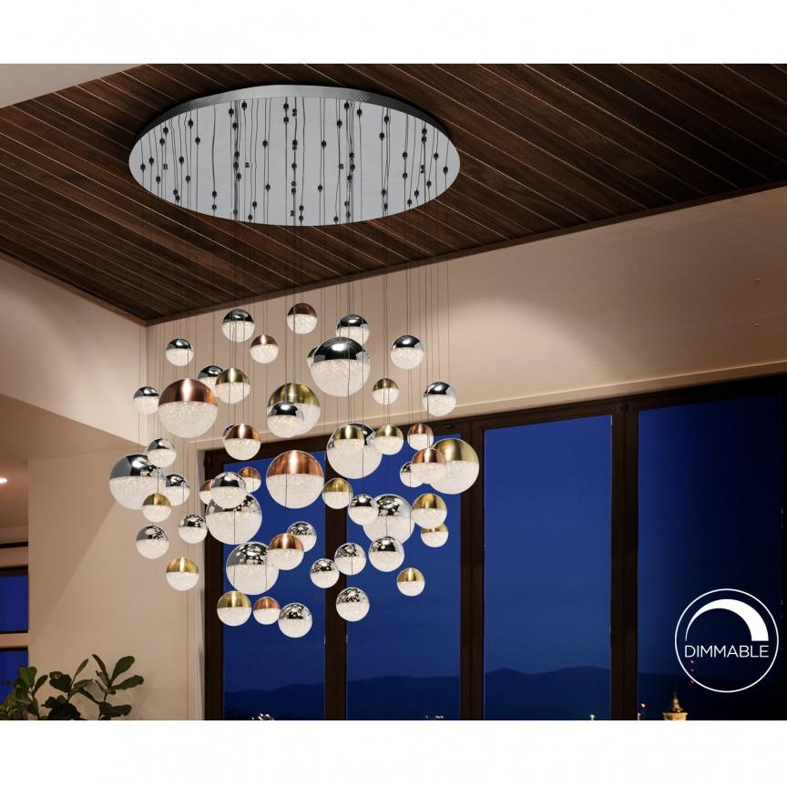 Lustra XXL LED dimabila cu telecomanda casa scarii Sphere 55L SV-794691D, Lampi LED si Telecomanda,  a