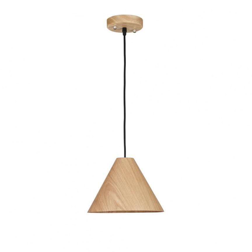 Lustra / Pendul modern design lemn natur WERA NVL-9125061, Cele mai noi produse 2020 a
