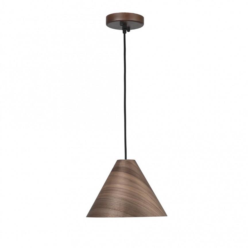 Lustra / Pendul modern design lemn nuc inchis WERA NVL-9125062, Cele mai noi produse 2020 a