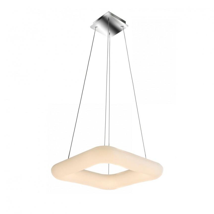 Lustra LED dimabila cu telecomanda design modern 60cm Donut SQ AZ2667, Lampi LED si Telecomanda,  a
