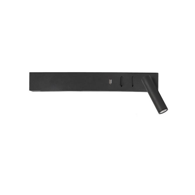 Aplica ambientala cu reader LED directionabil si USB Charger Vida neagra NVL-9533521, Aplice de perete LED, moderne⭐ modele potrivite pentru dormitor, living, baie, hol, bucatarie.✅DeSiGn LED decorativ 2021!❤️Promotii lampi❗ ➽ www.evalight.ro. Alege oferte NOI corpuri de iluminat cu LED pt interior, elegante din cristal (becuri cu leduri si module LED integrate cu lumina calda, naturala sau rece), ieftine si de lux, calitate deosebita la cel mai bun pret.  a