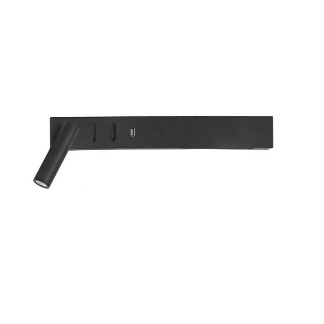 Aplica ambientala cu reader LED directionabil si USB Charger Vida neagra NVL-9533522 , Aplice de perete LED, moderne⭐ modele potrivite pentru dormitor, living, baie, hol, bucatarie.✅DeSiGn LED decorativ 2021!❤️Promotii lampi❗ ➽ www.evalight.ro. Alege oferte NOI corpuri de iluminat cu LED pt interior, elegante din cristal (becuri cu leduri si module LED integrate cu lumina calda, naturala sau rece), ieftine si de lux, calitate deosebita la cel mai bun pret.  a