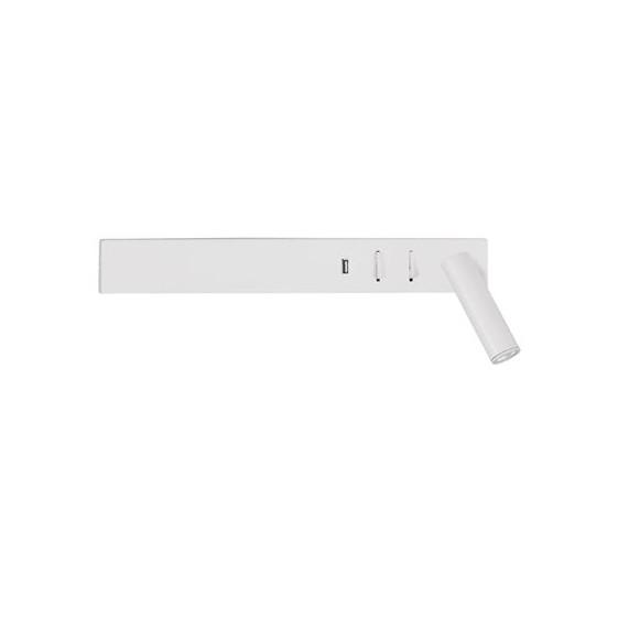Aplica ambientala cu reader LED directionabil si USB Charger Vida alba NVL-9533523 , Aplice de perete LED, moderne⭐ modele potrivite pentru dormitor, living, baie, hol, bucatarie.✅DeSiGn LED decorativ 2021!❤️Promotii lampi❗ ➽ www.evalight.ro. Alege oferte NOI corpuri de iluminat cu LED pt interior, elegante din cristal (becuri cu leduri si module LED integrate cu lumina calda, naturala sau rece), ieftine si de lux, calitate deosebita la cel mai bun pret.  a