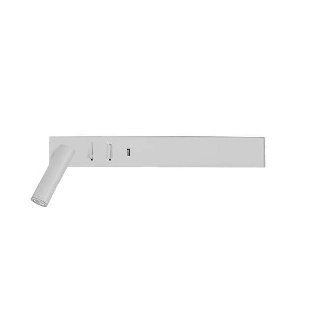 Aplica ambientala cu reader LED directionabil si USB Charger Vida alba NVL-9533524 , Aplice de perete LED, moderne⭐ modele potrivite pentru dormitor, living, baie, hol, bucatarie.✅DeSiGn LED decorativ 2021!❤️Promotii lampi❗ ➽ www.evalight.ro. Alege oferte NOI corpuri de iluminat cu LED pt interior, elegante din cristal (becuri cu leduri si module LED integrate cu lumina calda, naturala sau rece), ieftine si de lux, calitate deosebita la cel mai bun pret.  a
