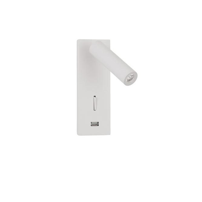 Aplica cu reader LED directionabil si USB Charger Fuse alba NVL-9170101 , Aplice de perete LED, Corpuri de iluminat, lustre, aplice, veioze, lampadare, plafoniere. Mobilier si decoratiuni, oglinzi, scaune, fotolii. Oferte speciale iluminat interior si exterior. Livram in toata tara.  a