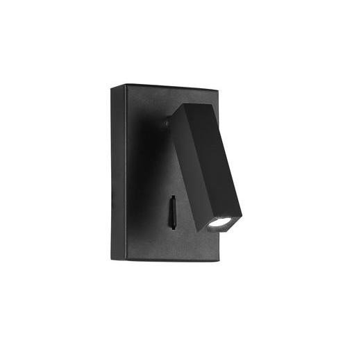 Aplica moderna cu reader LED directionabil Dona neagra NVL-9081352, Aplice de perete LED, Corpuri de iluminat, lustre, aplice, veioze, lampadare, plafoniere. Mobilier si decoratiuni, oglinzi, scaune, fotolii. Oferte speciale iluminat interior si exterior. Livram in toata tara.  a