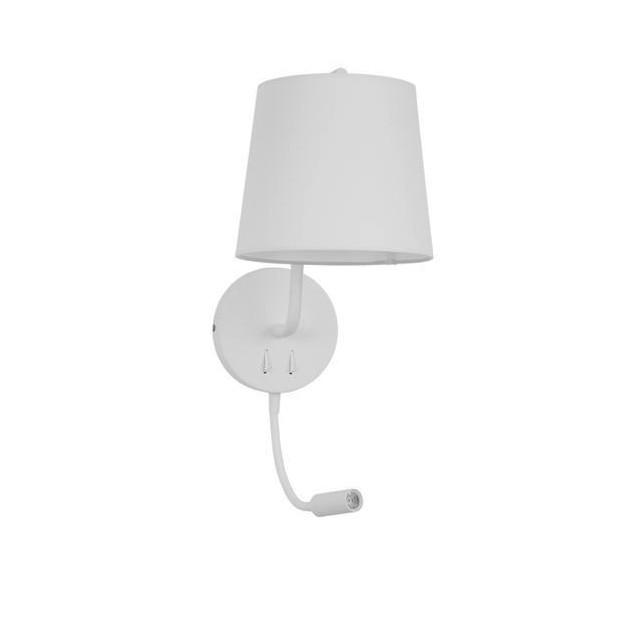 Aplica de perete moderna cu reader LED Sage alba NVL-9129329, Magazin, Corpuri de iluminat, lustre, aplice, veioze, lampadare, plafoniere. Mobilier si decoratiuni, oglinzi, scaune, fotolii. Oferte speciale iluminat interior si exterior. Livram in toata tara.  a