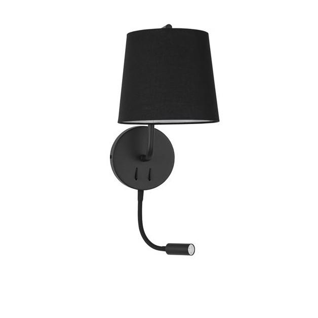 Aplica de perete moderna cu reader LED Sage neagra NVL-9129330, Magazin, Corpuri de iluminat, lustre, aplice, veioze, lampadare, plafoniere. Mobilier si decoratiuni, oglinzi, scaune, fotolii. Oferte speciale iluminat interior si exterior. Livram in toata tara.  a