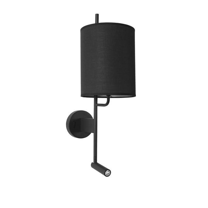 Aplica de perete moderna cu reader LED Yama neagra NVL-9180512, Magazin, Corpuri de iluminat, lustre, aplice, veioze, lampadare, plafoniere. Mobilier si decoratiuni, oglinzi, scaune, fotolii. Oferte speciale iluminat interior si exterior. Livram in toata tara.  a