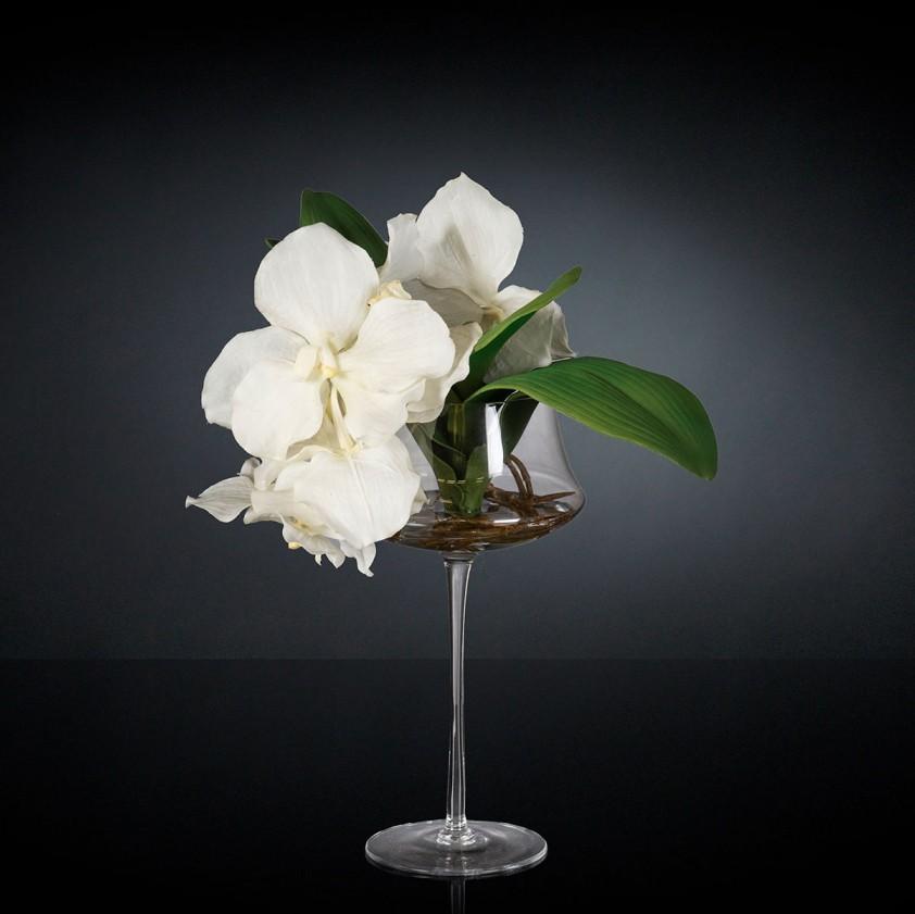Aranjament floral ETERNITY STEM GLASS MINIMES VANDA, PROMOTII,  a