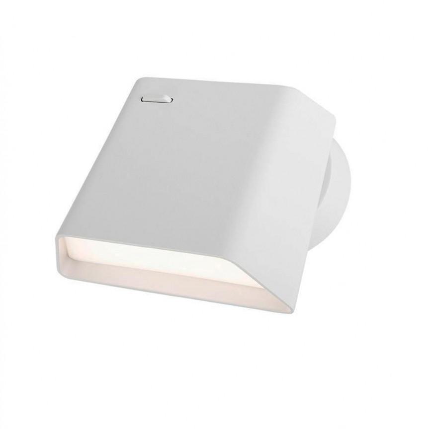 Aplica LED tip spot aplicat design modern Benedetto alba NVL-8206201, Aplice de perete LED, Corpuri de iluminat, lustre, aplice, veioze, lampadare, plafoniere. Mobilier si decoratiuni, oglinzi, scaune, fotolii. Oferte speciale iluminat interior si exterior. Livram in toata tara.  a