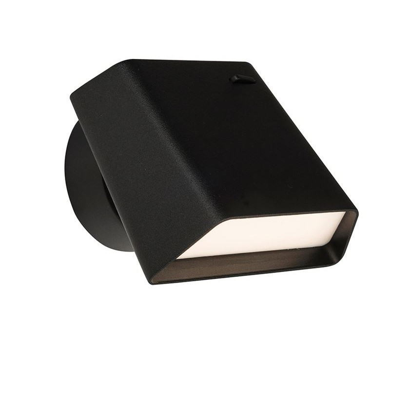 Aplica LED tip spot aplicat design modern Benedetto neagra, Aplice de perete LED, Corpuri de iluminat, lustre, aplice, veioze, lampadare, plafoniere. Mobilier si decoratiuni, oglinzi, scaune, fotolii. Oferte speciale iluminat interior si exterior. Livram in toata tara.  a