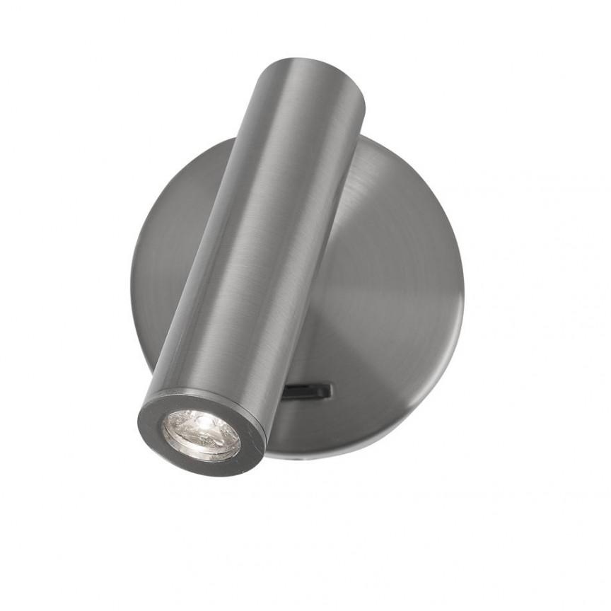 Aplica LED cu spot directionabil design minimalist Laredo crom NVL-8140522, Aplice de perete LED, Corpuri de iluminat, lustre, aplice, veioze, lampadare, plafoniere. Mobilier si decoratiuni, oglinzi, scaune, fotolii. Oferte speciale iluminat interior si exterior. Livram in toata tara.  a
