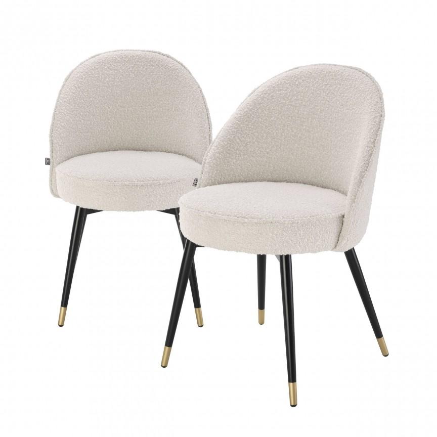 Set de 2 scaune elegante design LUX Cooper, crem 113988 HZ, Seturi scaune dining, scaune HoReCa,  a