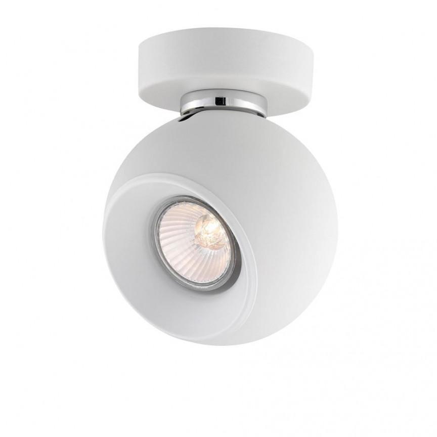 Plafoniera moderna tip spot Tore 1L alba NVL-665001, Spoturi - iluminat - cu 1 spot, Corpuri de iluminat, lustre, aplice, veioze, lampadare, plafoniere. Mobilier si decoratiuni, oglinzi, scaune, fotolii. Oferte speciale iluminat interior si exterior. Livram in toata tara.  a